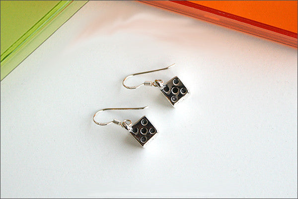 Dice Earrings - 925 sterling silver dice earring (E-36)