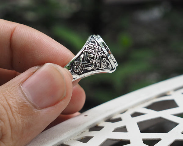 Viking Raven Ring, Raven Viking Ring, Norse Jewelry 925 Sterling Silver Size 6-15