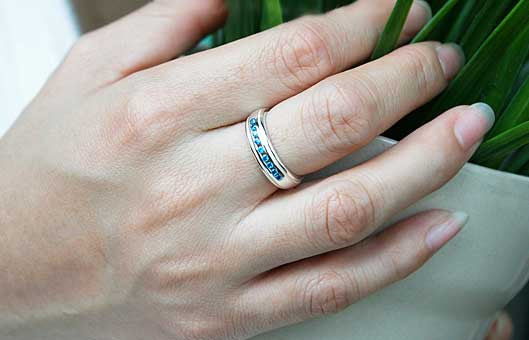 White Quartz - 925 Sterling Silver Band - For Casual Wedding or Engagement - Engravable and Customized Options Available-  Silver ring (R92)