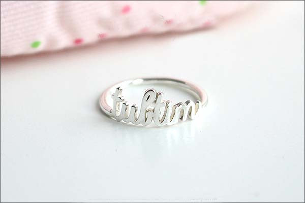 Name ring - Personalize ring name - ring name - Custom Name ring - 925 Sterling Silver - Birthday - Valentines Day  (R3D)