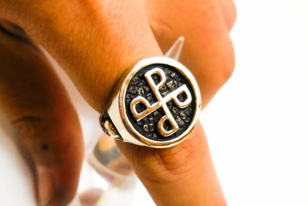 Phantom ring, Skull ring, Brass Style Heavy Biker Harley Rocker Men's Jewelry, The F4 PHANTOM Lee Falk  (BR-33)