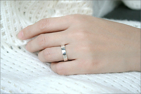 Custom Initial Ring - Sweetheart Ring - Personalized Heart Ring - gift for her - Heart Ring -  Free Engraving - 4 mm Wide  (RB-1)