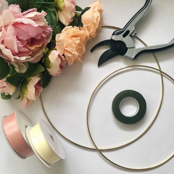 Diy Project Floral And Ribbon Hoops Creative Style Nz