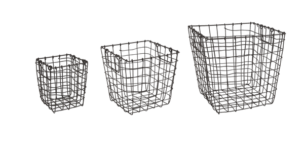 Wire Baskets: Deep Square