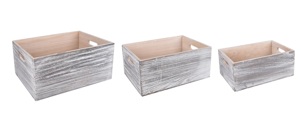 Wood: Rectangle Box Whitewash