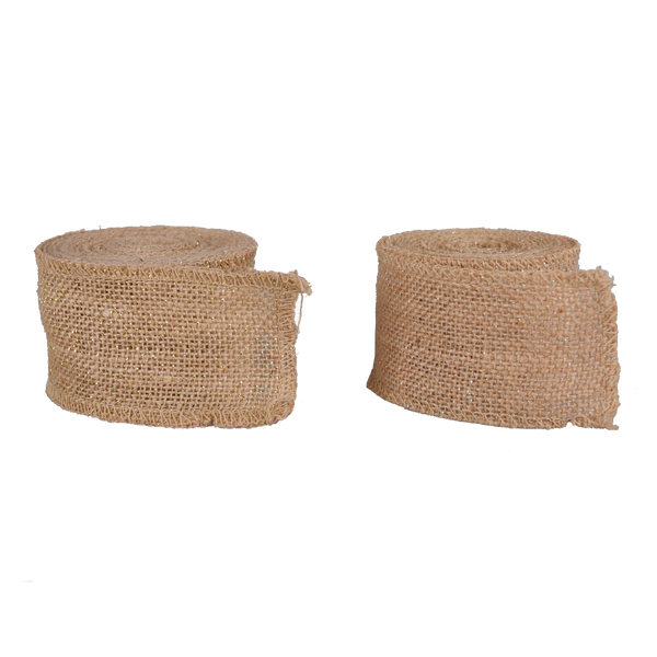 Hessian: Hessian Roll 5cm x 4.57m Metallic Thread