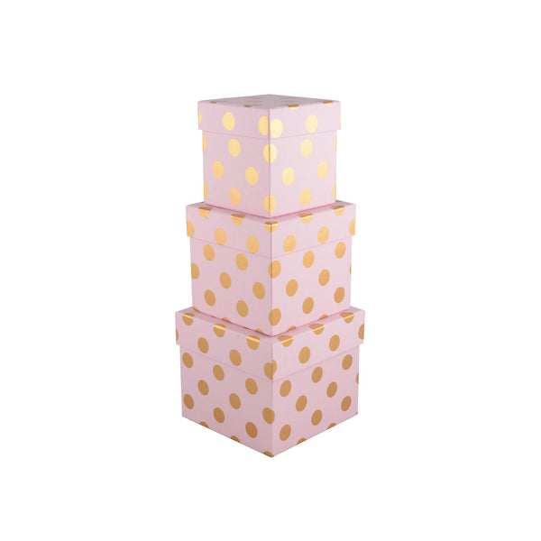 Polka Dot Box: Pink