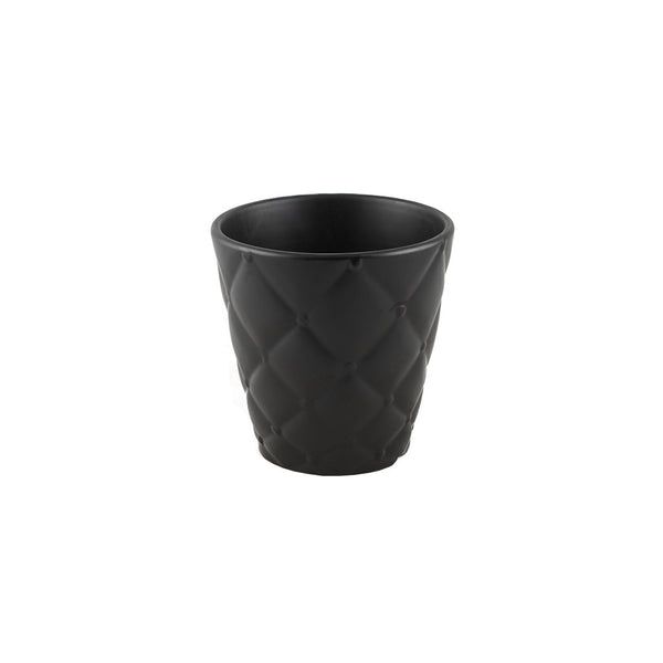 Ceramic:Cushion Pot in Black