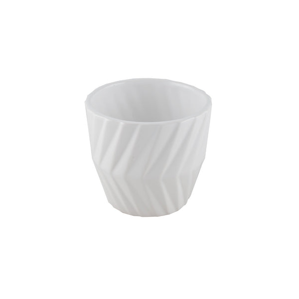 Porcelain: Chevron Patterned Pot
