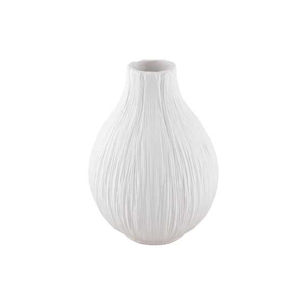 Porcelain: Ribbed Fig Vase