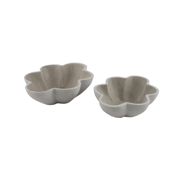 Concrete look: Scalloped Dishes