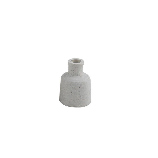 Concrete Look Candle Holder: Small