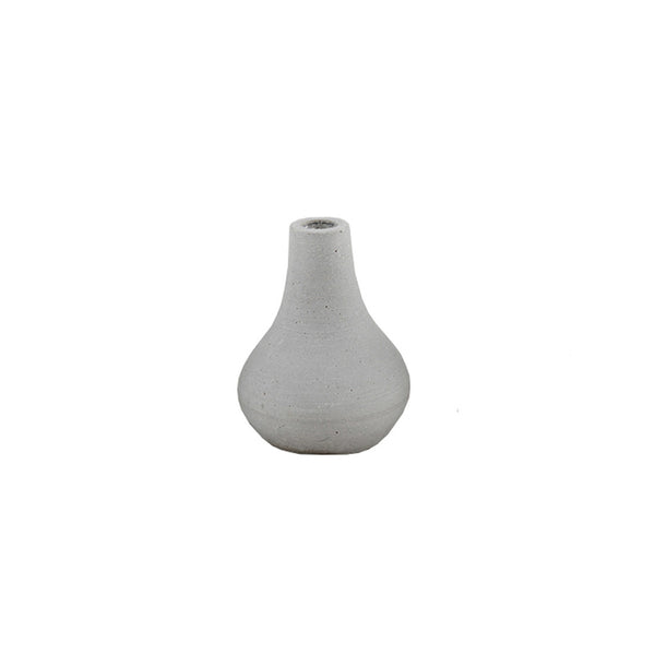 Concrete Look Candle Holder: Medium