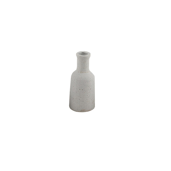 Concrete Look Candle Holder: Bottle
