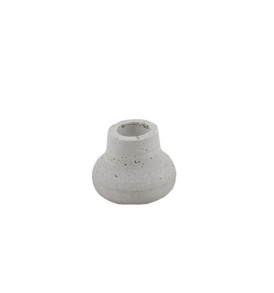 Concrete Look Candle Holder: Mini Urn