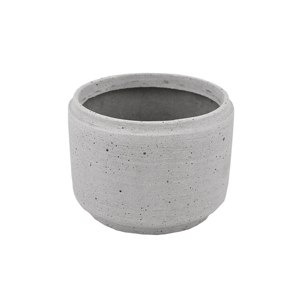 Concrete Look: Large Indent Rim Pot