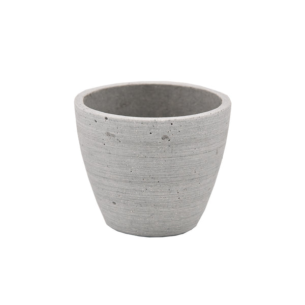 Concrete Look: Small Round Taper Pot