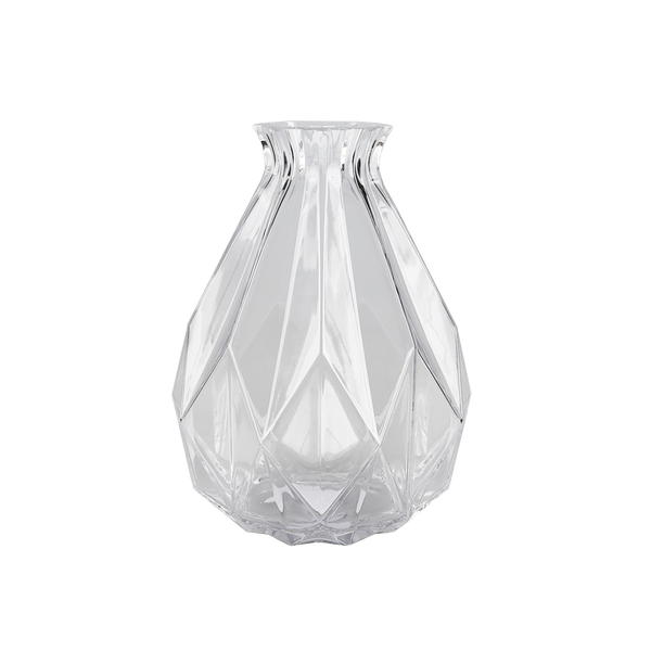 Cut Glassware: Geometric Bottle Vases