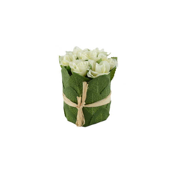 Artificial Flowers: Posy Roses White