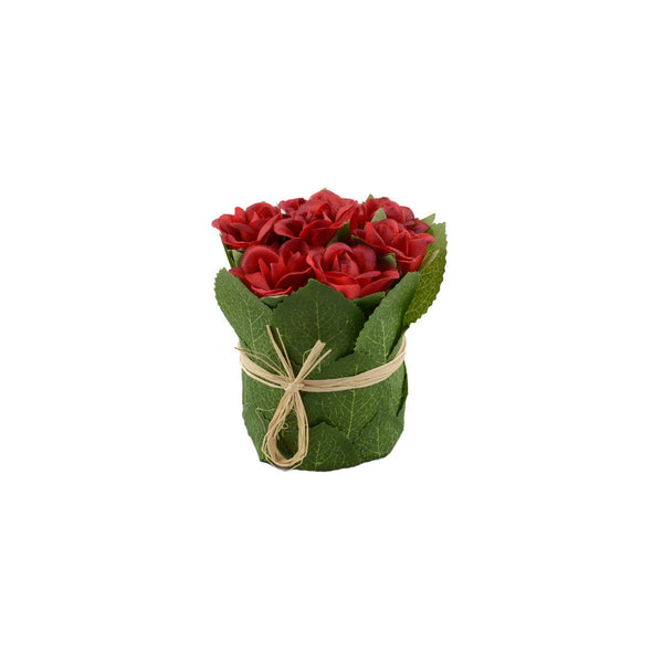 Artificial Flowers: Posy Roses Red