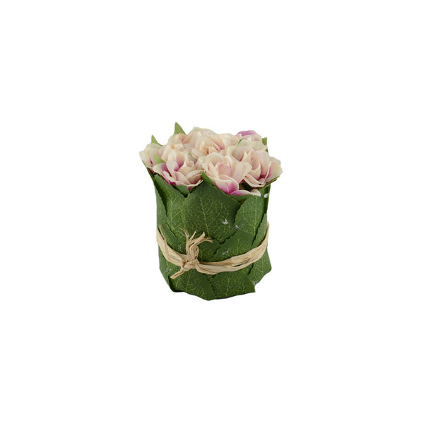 Artificial Flowers: Posy Roses Pink