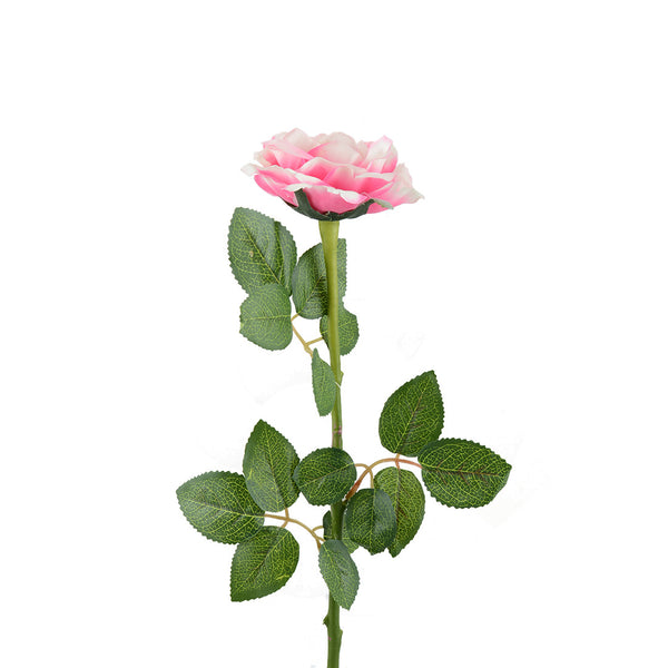 Artificial Flowers: Open Rose Perfect Pink