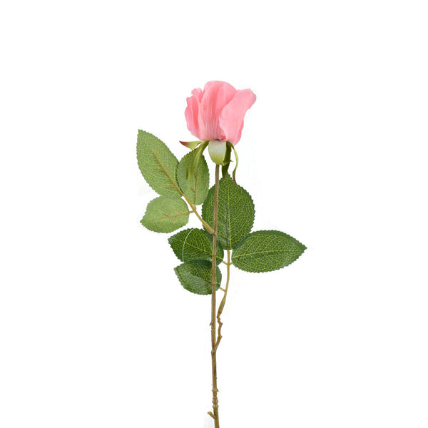 Artificial Flowers: Rose Bud Large Pink