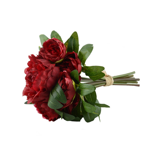 Artificial Flowers: Peony Posy Red