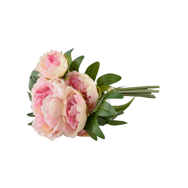 Artificial Flowers: Peony Posy Light Pink