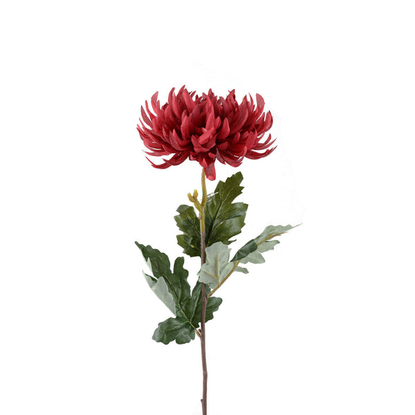 Artificial Flowers: Chrysanthemums red