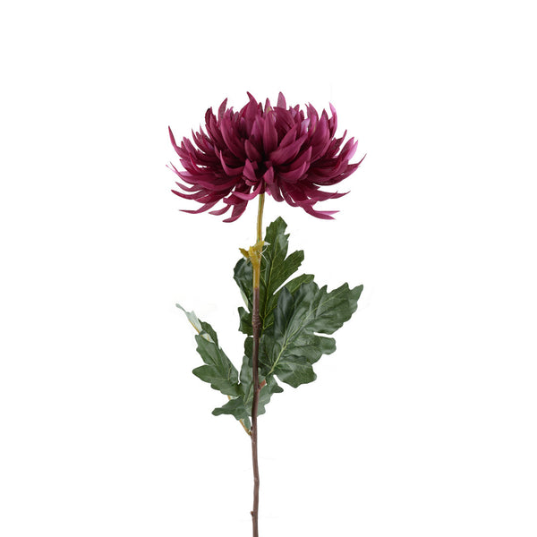 Artificial Flowers: Chrysanthemums Plum