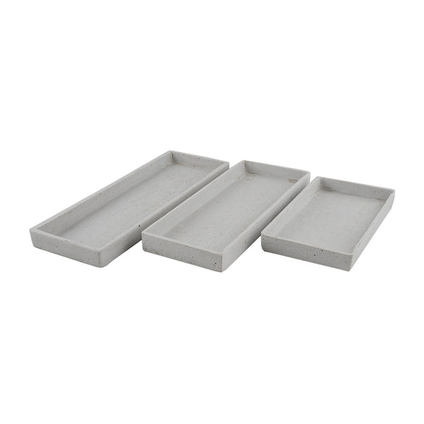 Concrete Look: Rectangle Trays