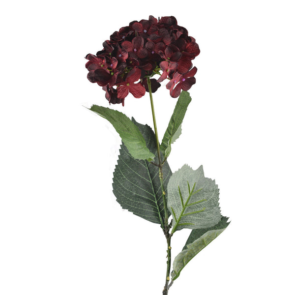 Artificial Flowers: Hydrangea Burgundy