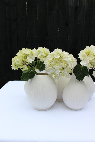 Porcelain: Ribbed Rounded Vase