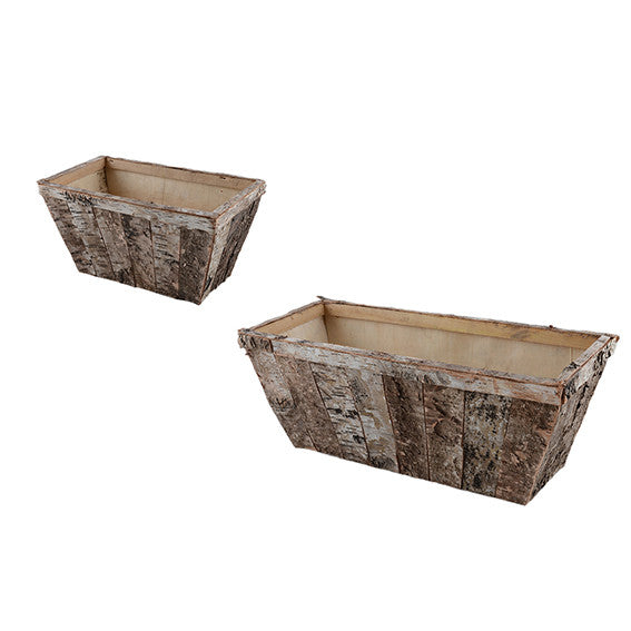 Birch: Trough / Planter with Panels