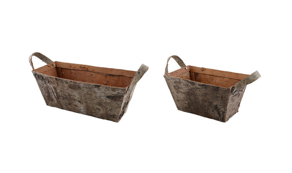 Birch: Trough / Planter with Handles