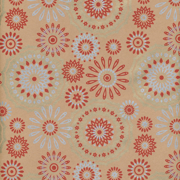 Flowerburst Wrapping Paper Red 70cm x 10m