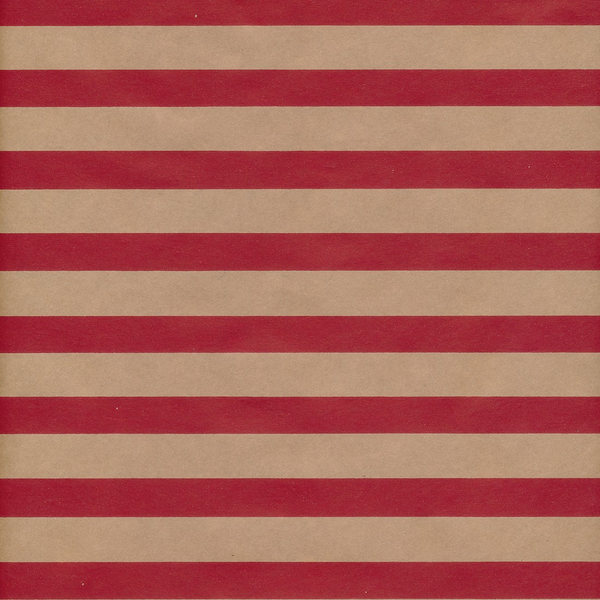 Stripe Kraft Wrapping Paper Red 50cm x 10m
