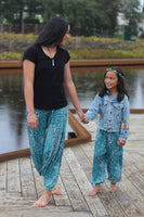 Childrens Feather & Fan Genie Pants
