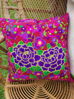 Embroidered Floral Throw Pillows