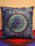Square Mandala Throw Pillow