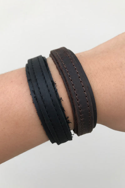 Leather Double Strap Bracelet