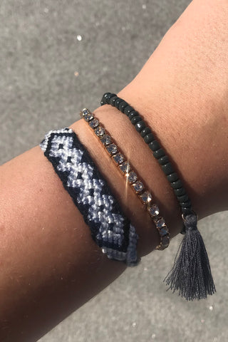 Three Pack Of Beaded Bracelets