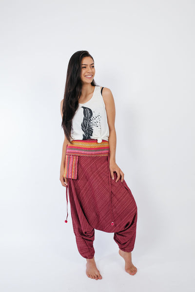 Woven Cotton Harem Pants
