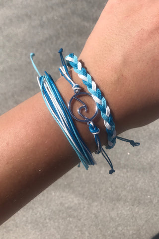 Set of Three Bracelets - Beach Theme