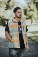 Yellow/Blue Check Winter Vest