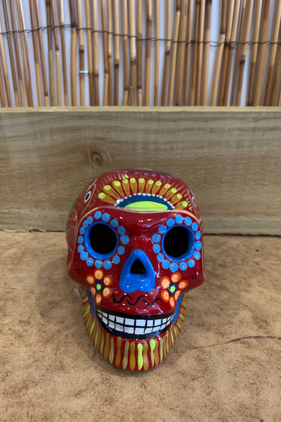 Ceramic Candy Skull- Large