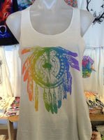 Graphic Singlet - Rainbow Dreamcatcher