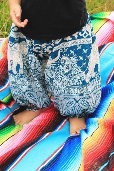 Childrens Elephant Smiles Genie Pants