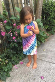 Girls Tie Dye Halter Dress